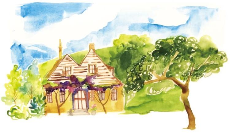 絵本の家イラスト